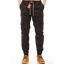 """Мужские черные штаны  карго """"Ястребь"""" Black (Чёрный) ART3001, фото 3"""