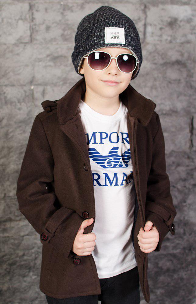 """Детское кашемировое пальто для мальчика """"STILL"""" с карманами"""