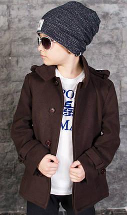 """Детское кашемировое пальто для мальчика """"STILL"""" с карманами, фото 2"""