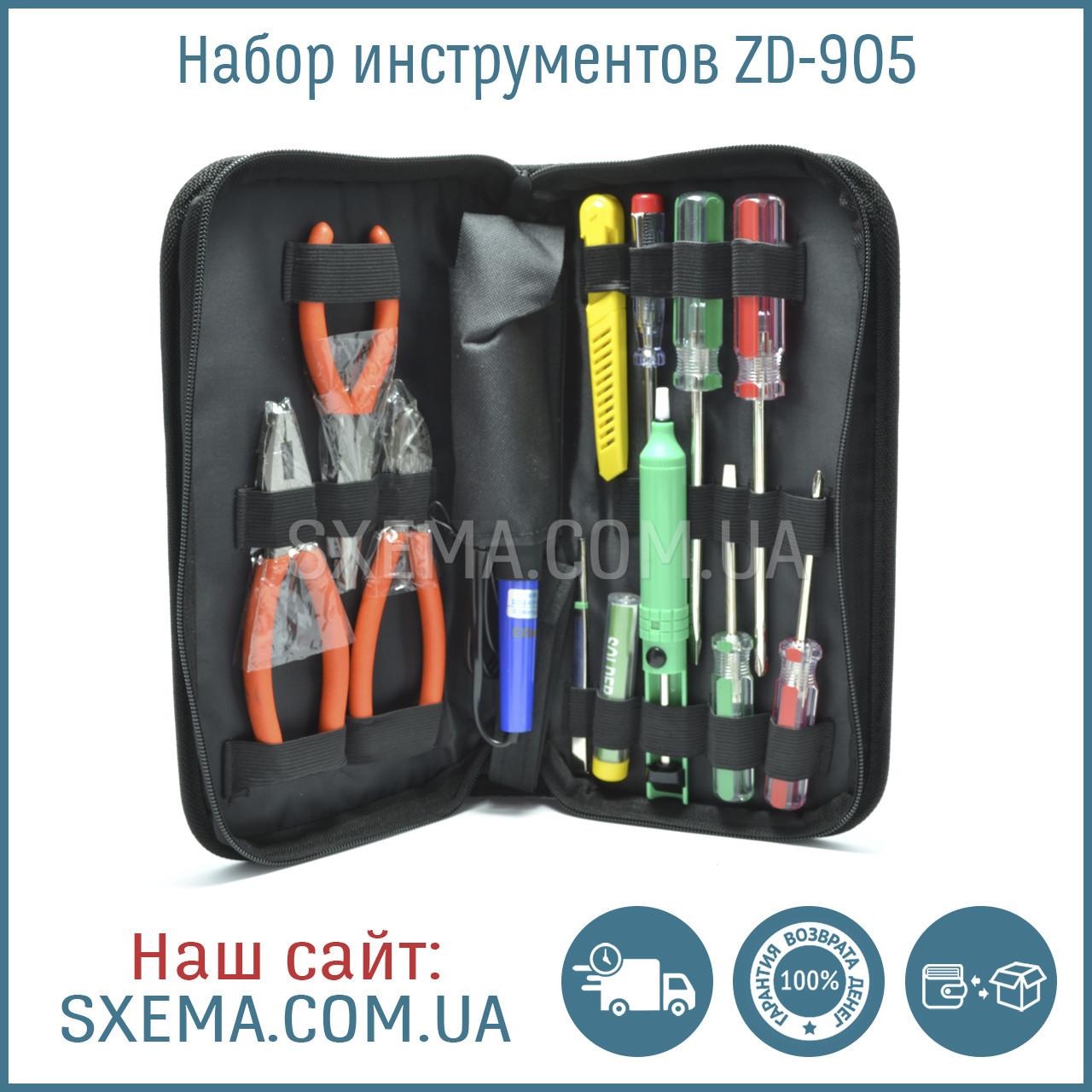 Набор инструментов для пайки ZD 905 в пенале