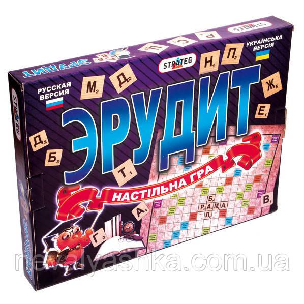 Настольная Игра Эрудит, STRATEG, 051, 006936