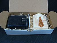 Подарок начальнику набор мыла портмоне и рубашка