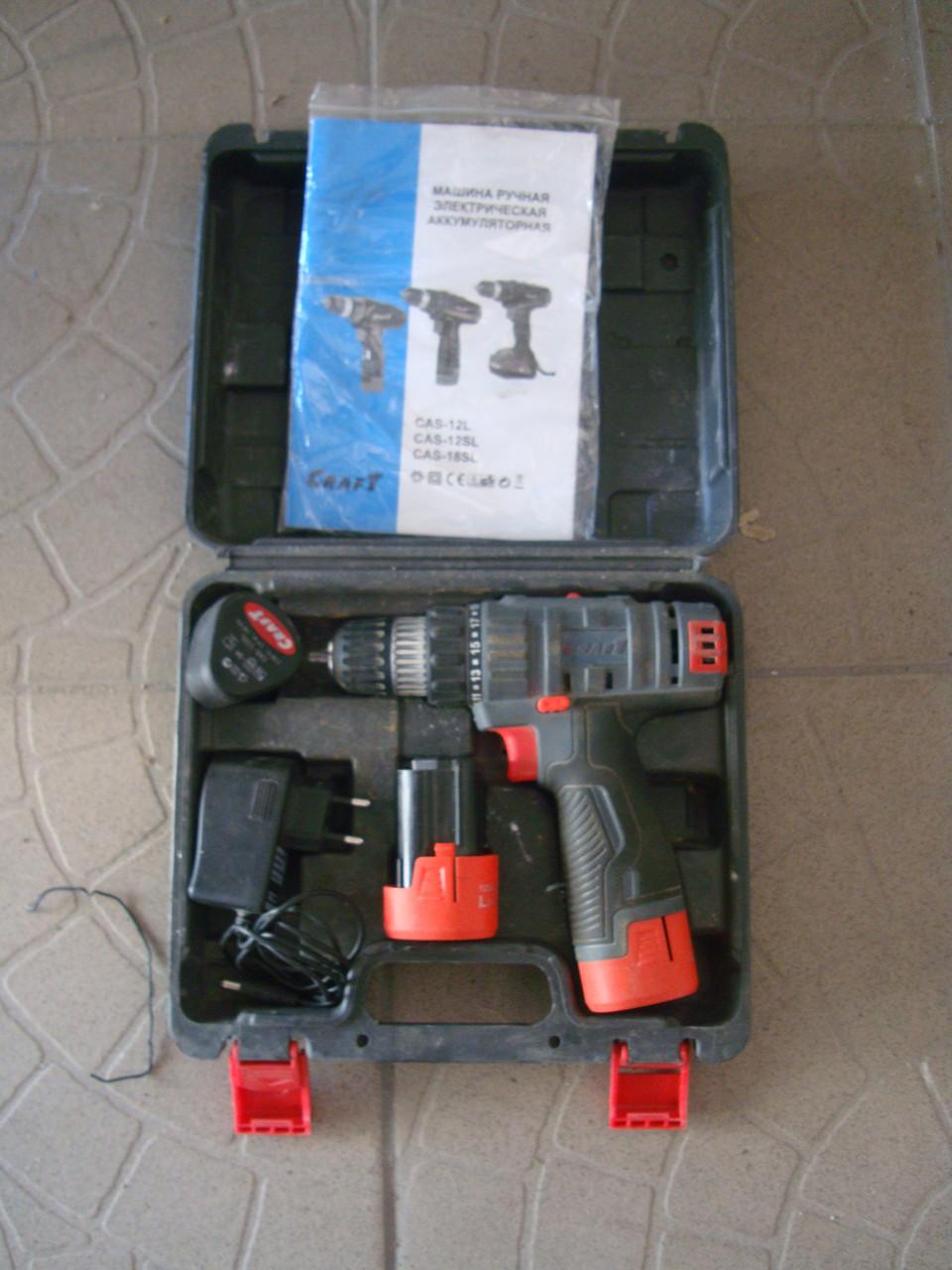 Шуруповерт аккумуляторный СRAFT CAS 12 SL