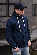 """Стильная мужская куртка-ветровка """"PLEIN"""" с карманами и капюшоном (4 цвета), фото 2"""
