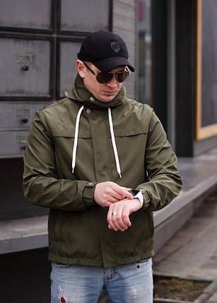 """Стильная мужская куртка-ветровка """"PLEIN"""" с карманами и капюшоном (2 цвета), фото 2"""