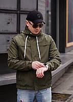 """Стильная мужская куртка-ветровка """"PLEIN"""" с карманами и капюшоном (2 цвета)"""