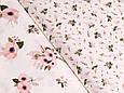 Сатин (хлопковая ткань)  анемоны, фото 2
