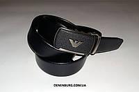 Ремень мужской ARMANI F123 чёрный, фото 1