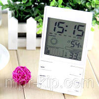 Термогигрометр HTC-2S (0°C... +60°C; 20% 99%) с календарём, часами и будильником