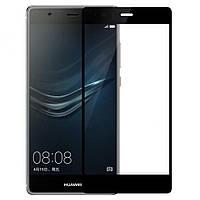 Защитное стекло 3D для Huawei (хуавей) P8 Lite 2017 Black, фото 1