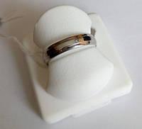 Обручальное серебряное коьцо родированное, универсальное