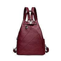 Рюкзак сумка женский городской треугольной формы (красный), фото 1