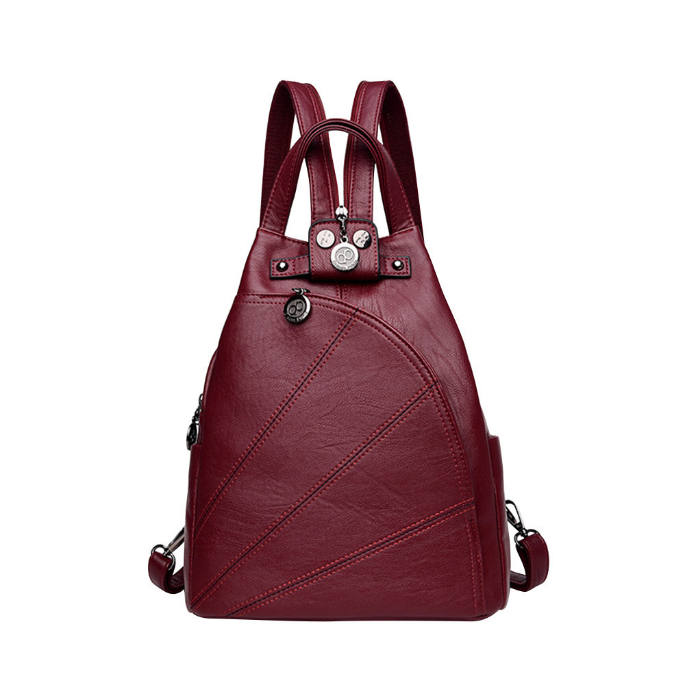 Рюкзак сумка женский городской треугольной формы (красный)  продажа ... 7b3dded660b