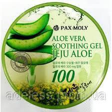 Многофункциональный успокаивающий гель с алоэ 100% PAXMOLY Aloe Vera Soothing Gel Jeju Aloe