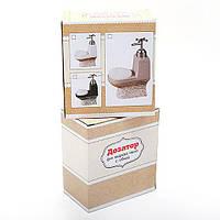 Дозатор для жидкого мыла с губкой 19.6см, 3 вида