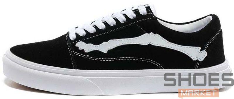 f0b2ce196f66 Женские кеды Vans X Blends Vault Old Skool Zip LX Bones Jazz Stripe Black