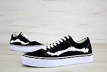 Женские кеды Vans X Blends Vault Old Skool Zip LX Bones Jazz Stripe Black, Ванс Олд Скул, фото 2