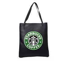 Сумка с принтом в стиле  Starbucks /  женская молодежная стильная модная сумка