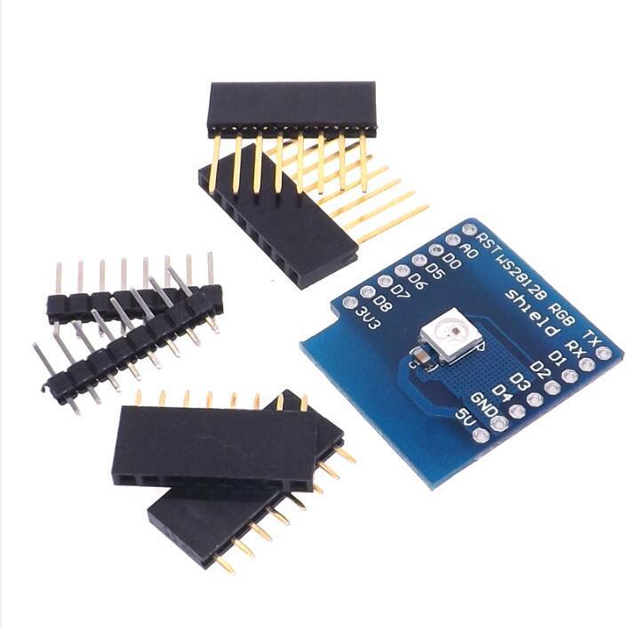 Плата расширения WS2812B RGB LED Shield для WeMos D1 mini