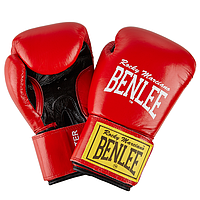Перчатки кожаные для бокса и единоборств BENLEE FIGHTER красного цвета / 10 унций / 12 унций / 14 унций