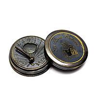 Часы солнечные с компасом (5х5х1,5 см) ( 26606)