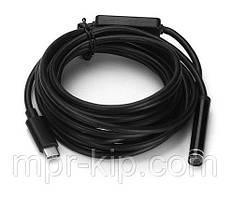 Водонепроницаемый USB эндоскоп-бороскоп с камерой 2 Мр (фото/видео) 5 метров, Windows, Android, Vista, MAC, XP