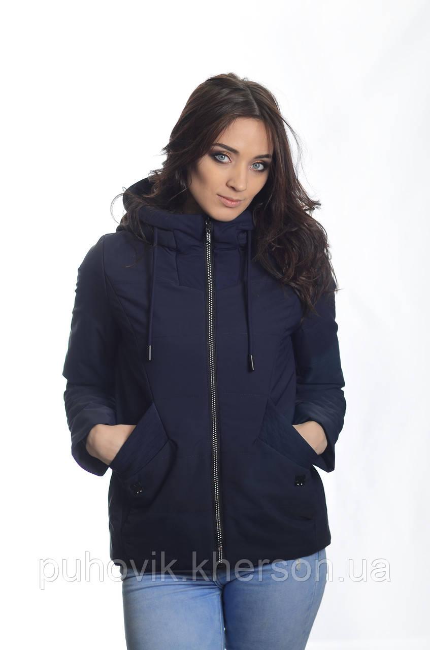 18d92cbb8a9 Куртка женская деми Jarius 18-022 т.синий -