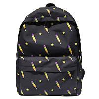 Черный рюкзак Мороженое /  женский молодежный стильный   модный рюкзак