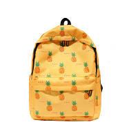 Желтый рюкзак Ананас /  женский молодежный стильный   модный рюкзак