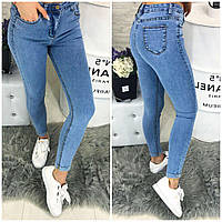 Голубые женские джинсы хит сезона