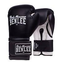 Перчатки кожаные для бокса и единоборств BENLEE MADISON DELUXE черного цвета / 10 унций / 12 унций / 14 унций