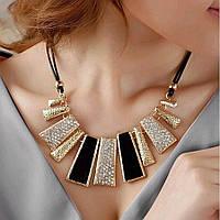 Колье ожерелье ювелирная бижутерия позолоченное 3521
