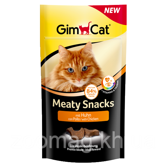 """Мясной снек с курицей для кошек """"GimCat Meaty Snack"""", 35г"""