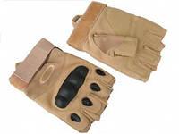 Тактические перчатки Oakley беспалые (койот)