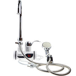 Миттєвий проточний водонагрівач з душем і дисплеєм (бокове підключення)