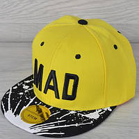 """Реперка взрослая """"MAD"""". Размер 57-58 см. Желтая+черный. Оптом и в розницу."""