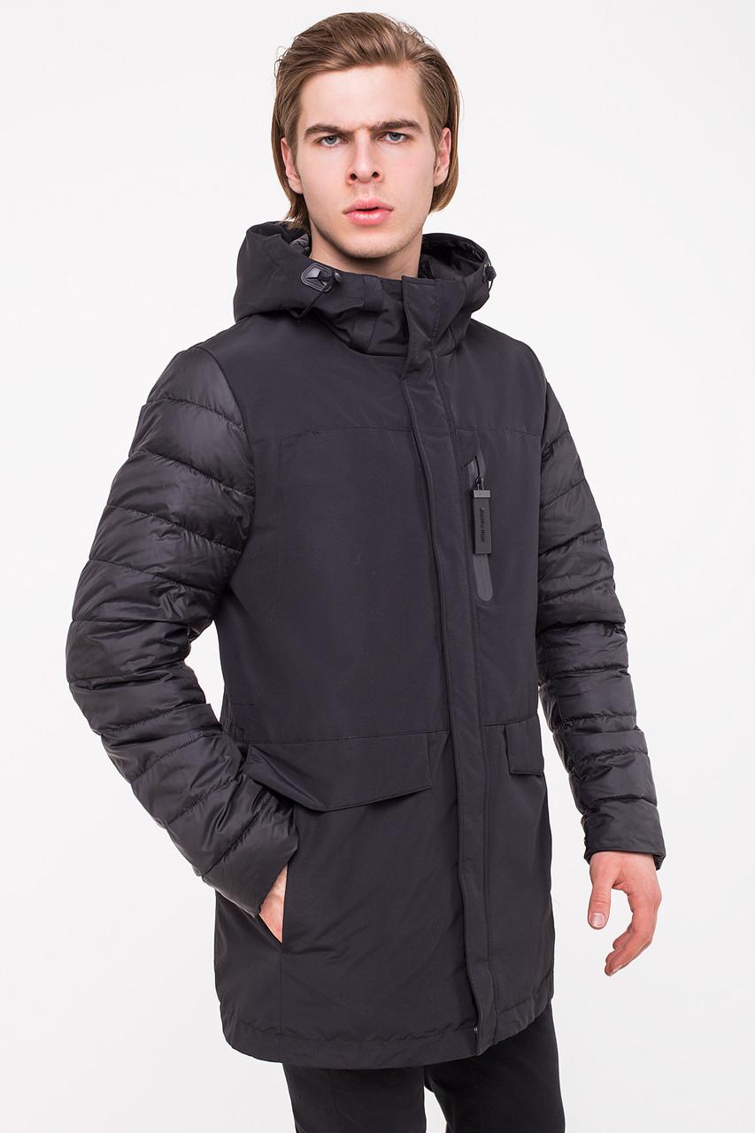 Комбинированная мужская куртка CLASNA CW18MC057 черная