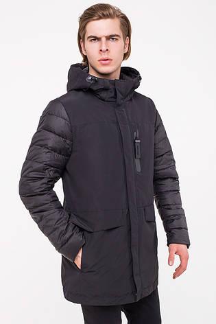 Комбинированная мужская куртка CLASNA CW18MC057 черная, фото 2