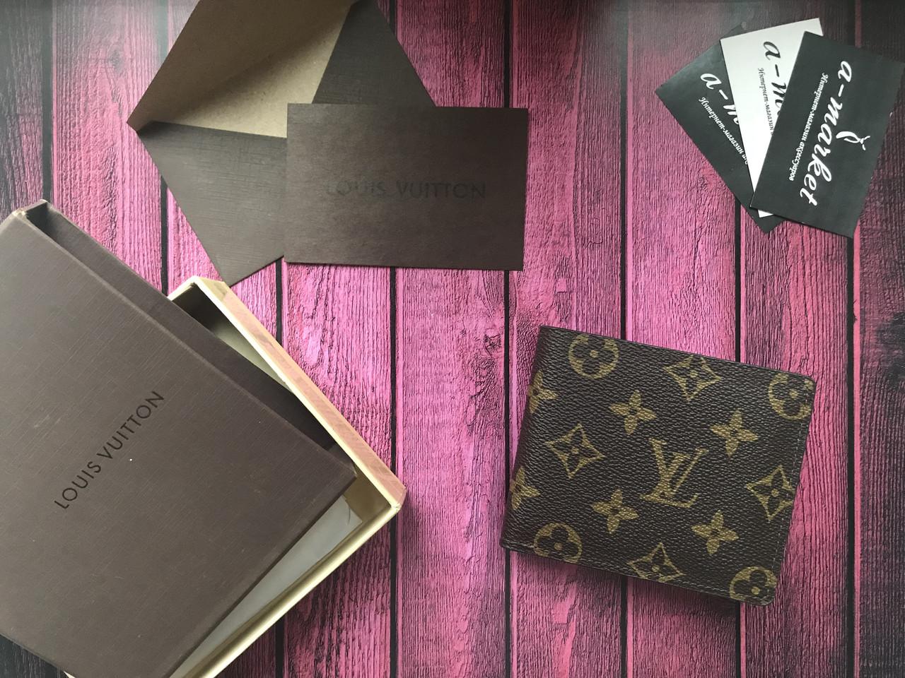 557ed5a04650 Кошелек клатч портмоне бумажник мужской женский Louis Vuitton Monogram премиум  реплика