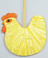 Пасхальный декор подвесной Курочка 26см