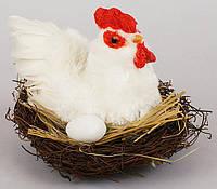 Пасхальный декор Курочка в гнезде 14см