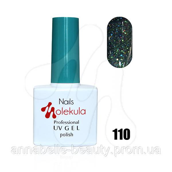 Гель-лак 11мл №110 искрящий зеленый