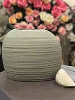 Ваза керамическая серая Exlusive