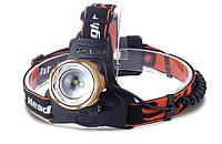 Налобный ультрафиолетовый фонарь 2в1 BL-6908