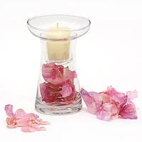 Подсвечник стеклянный со съемным стаканом для декора 14.5см