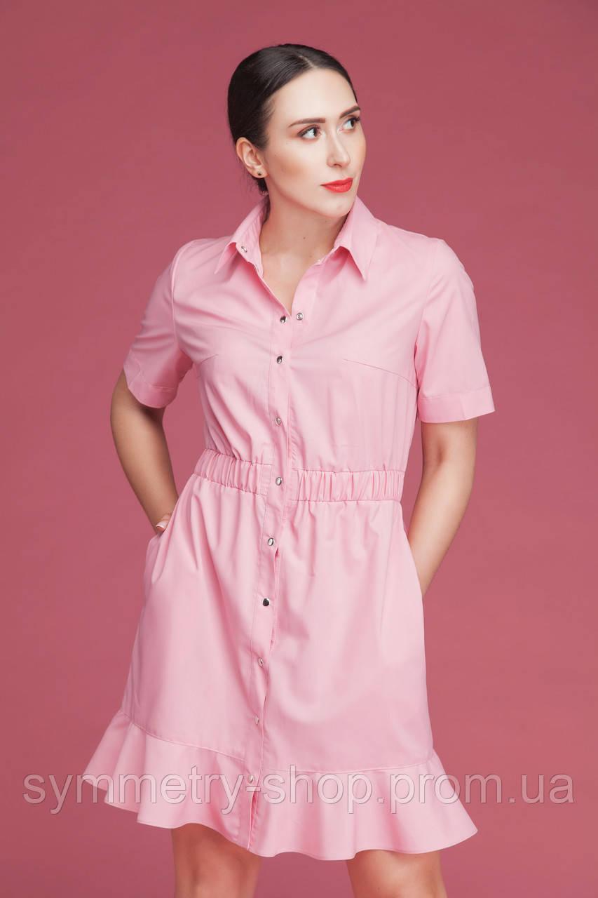 H007 медицинское платье, розовое