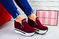 Женские кроссовки сникерсы на платформе, фото 1