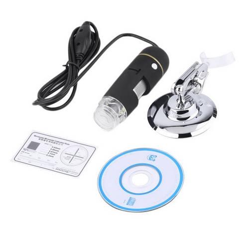 Цифровой микроскоп 25-500Х с LED подсветкой, USB-камера