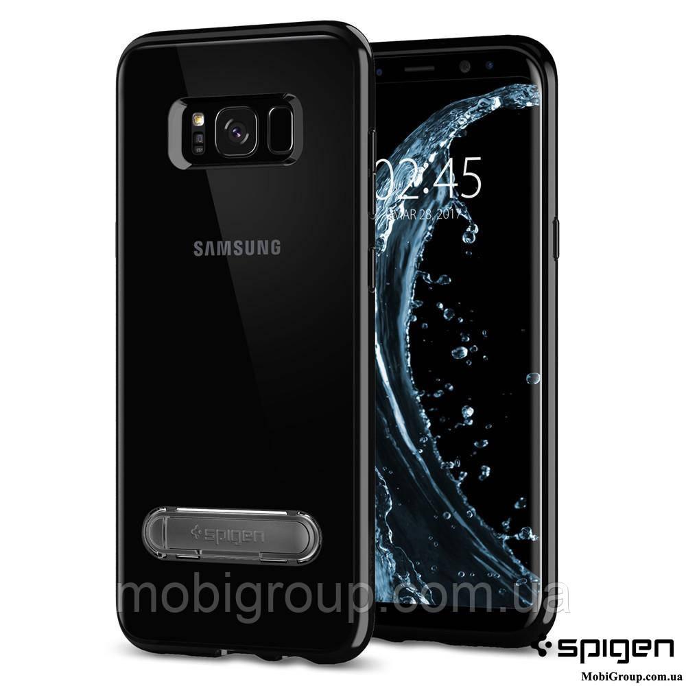 Чехол Spigen для Samsung S8 Plus Ultra Hybrid S, Midnight Black , фото 1