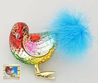 Елочное украшение Птица 10см на прищепке